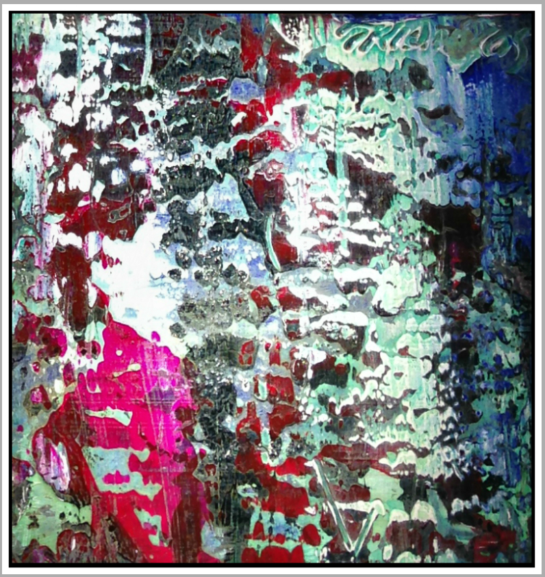 "Untitled #37, 2016, acrylic on panel, 16"" x 16"" (40.6 x 40.6 cm)"