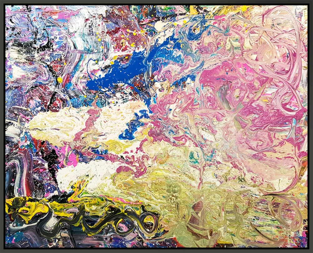 "Untitled #160, 2016, mixed media on canvas, 48"" x 60"" (121.9 x 152.4 cm)"