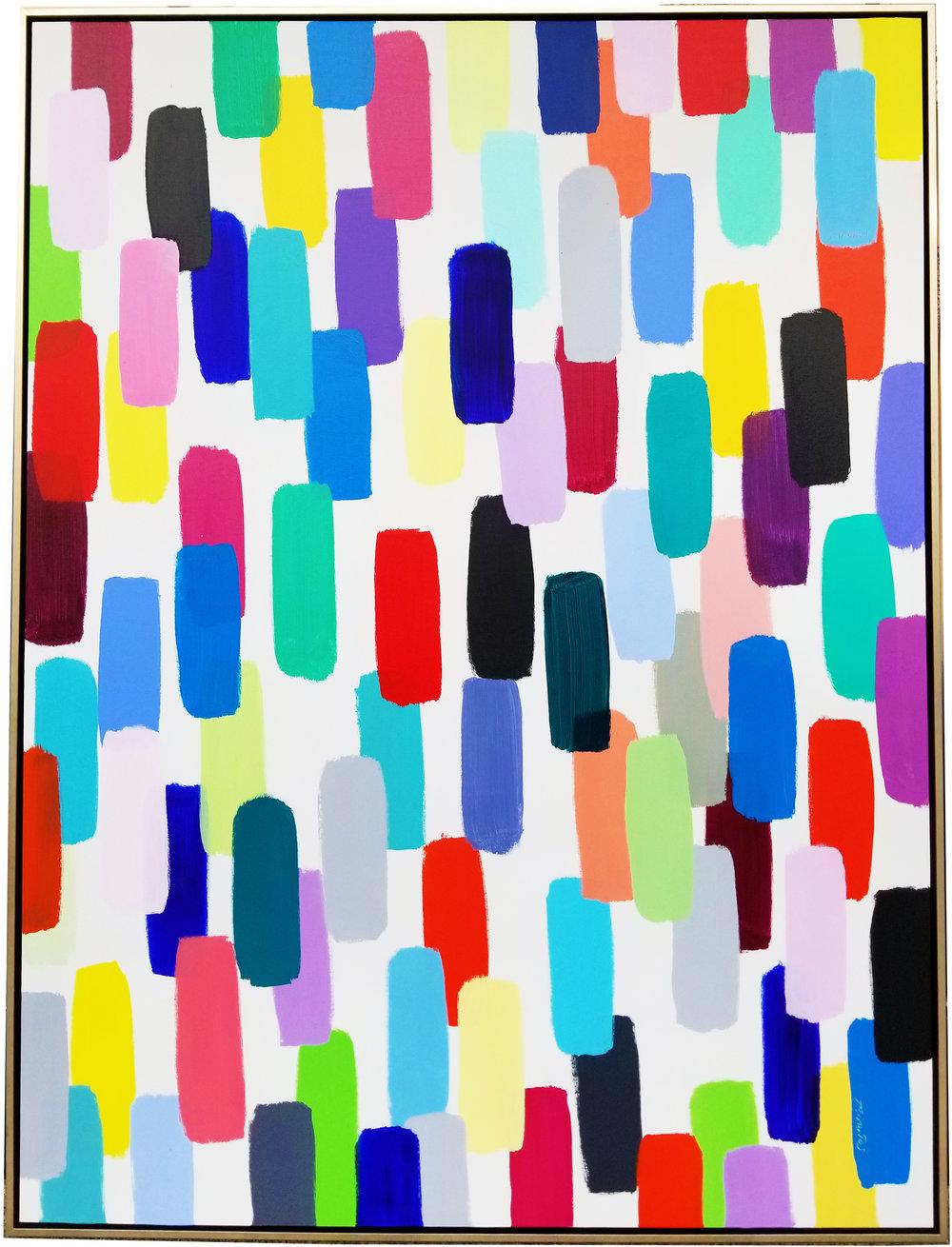 """Jelly Bean #38, 2017, acrylic on canvas, 72"""" x 54"""" (182.9 x 137.2 cm)"""