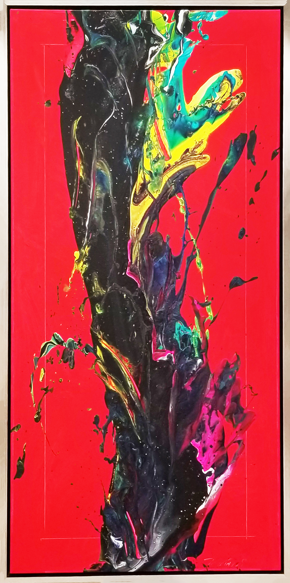 "SP² #106, 2018, acrylic on canvas, 30"" x 60"" ( 76.2 x 152. cm)"