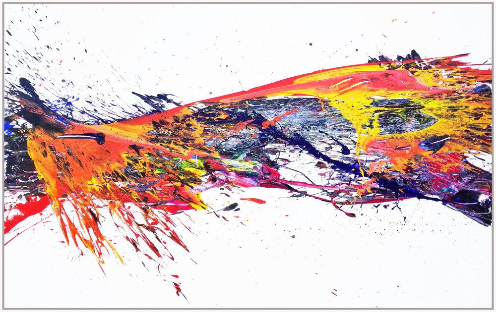 SP2#81, 2018, acrylic on canvas, 5' x 8'