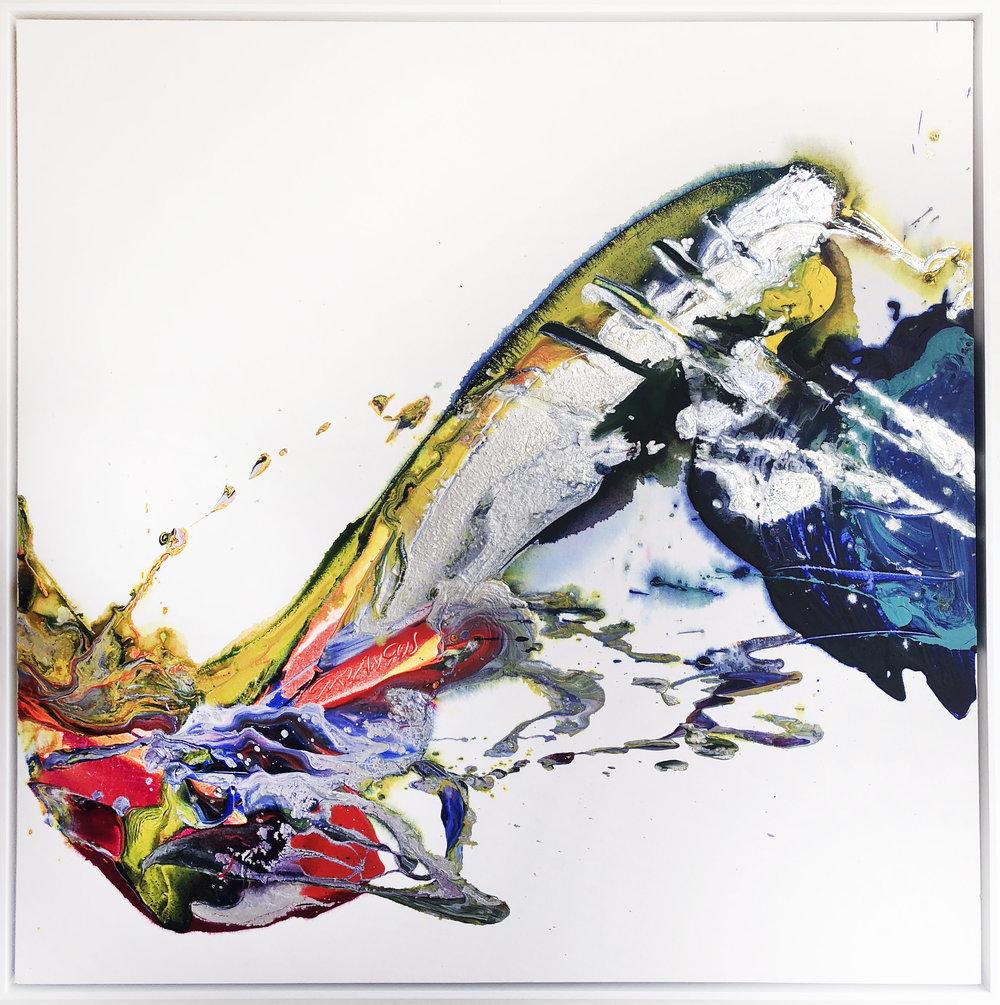 SP2#13, 2017, acrylic on canvas,4' x 4'