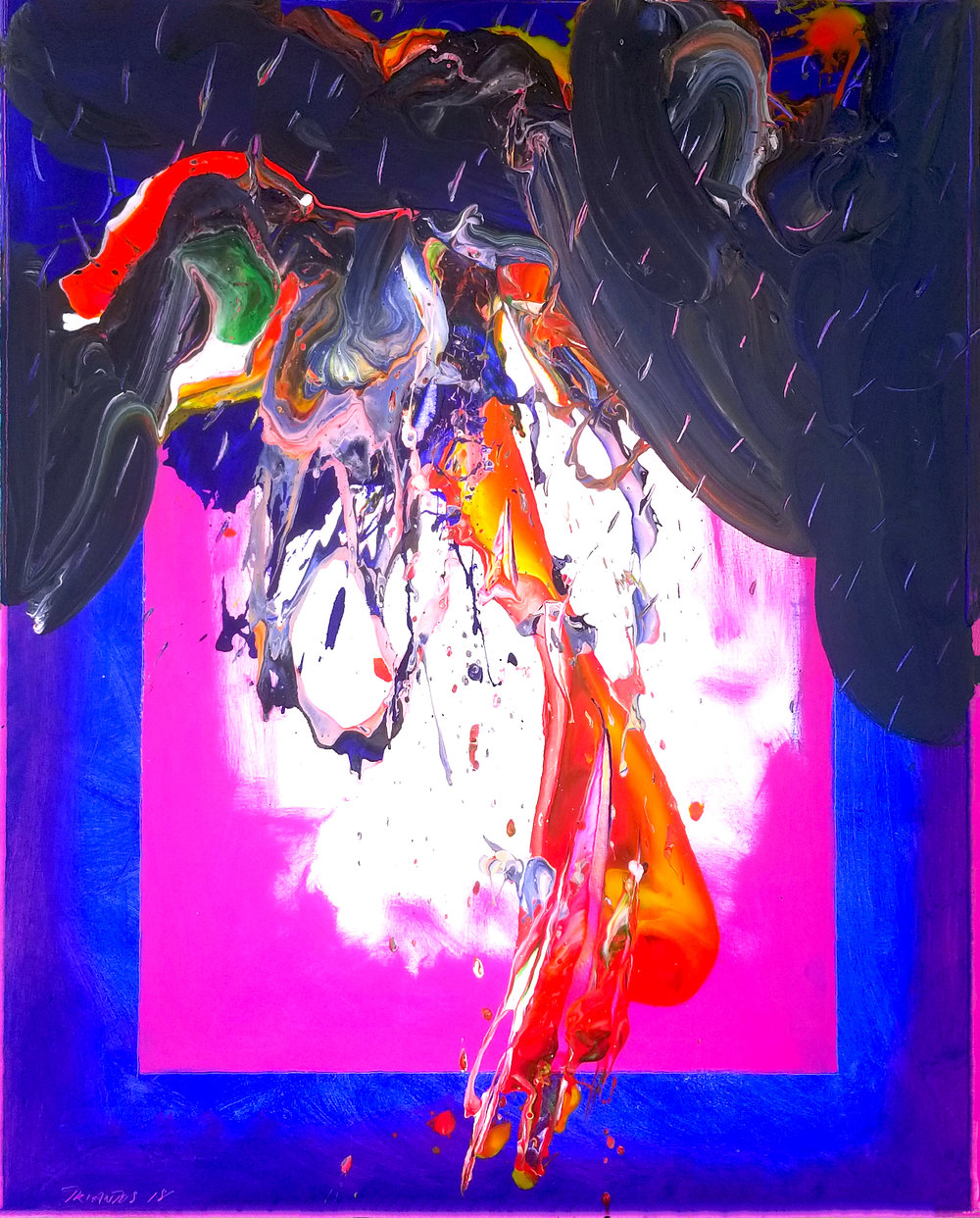 "Storm #5, 2018, acrylic on canvas, 60"" x 48"" (152.4 x 122 cm)"