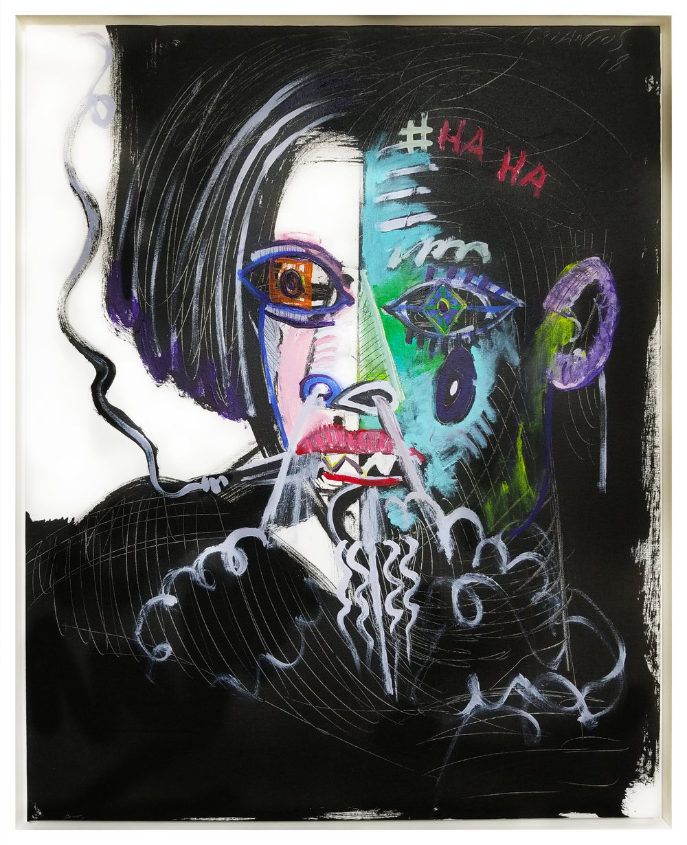 "Untitled #83, 2018, acrylic on canvas, 30"" x 24"" (76.2 x 60.96 cm)"