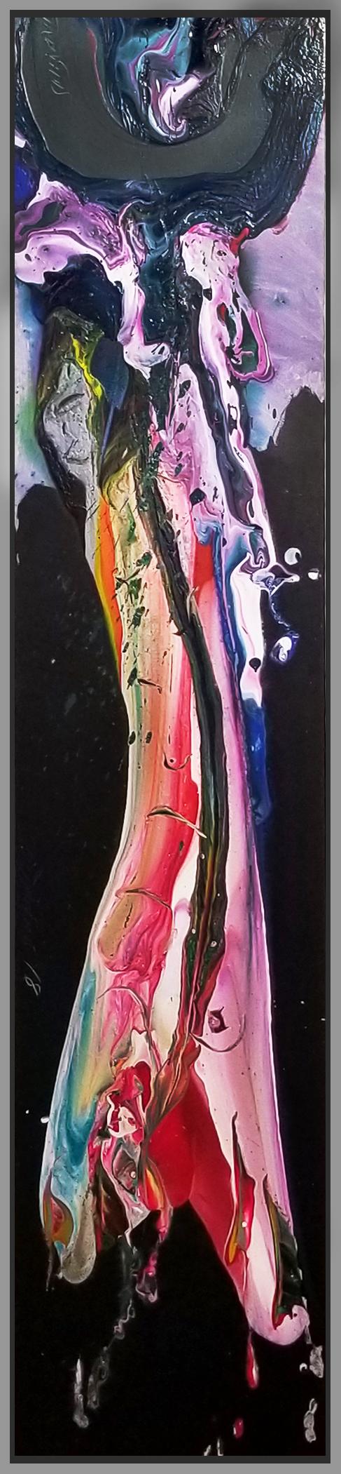 """SP² #77, 2018, acrylic on canvas, 20"""" x 70"""" (51 x 178 cm)"""
