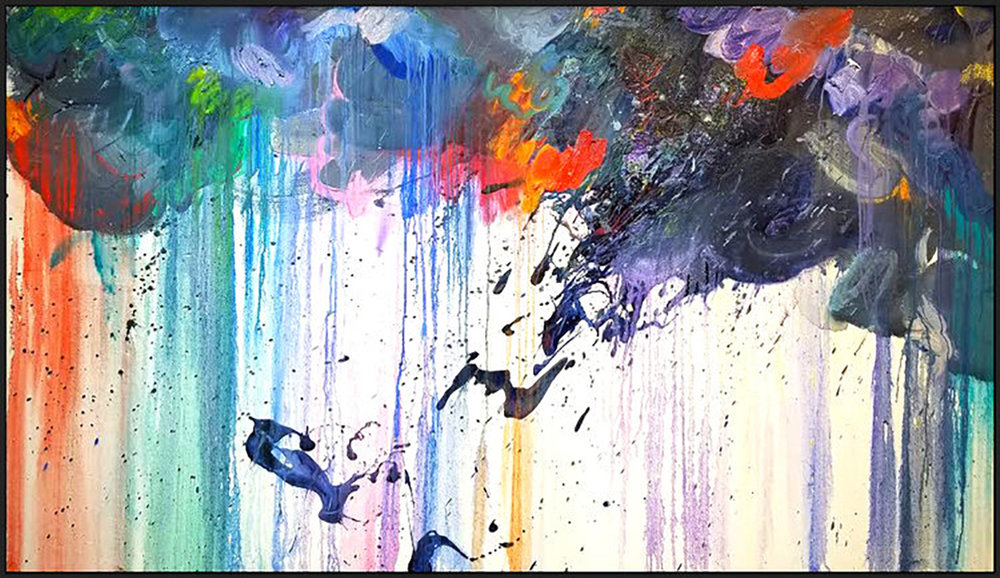 "Storm #6, 2018, acrylic on canvas, 48x84"" (121.2 x 213.4 cm)"