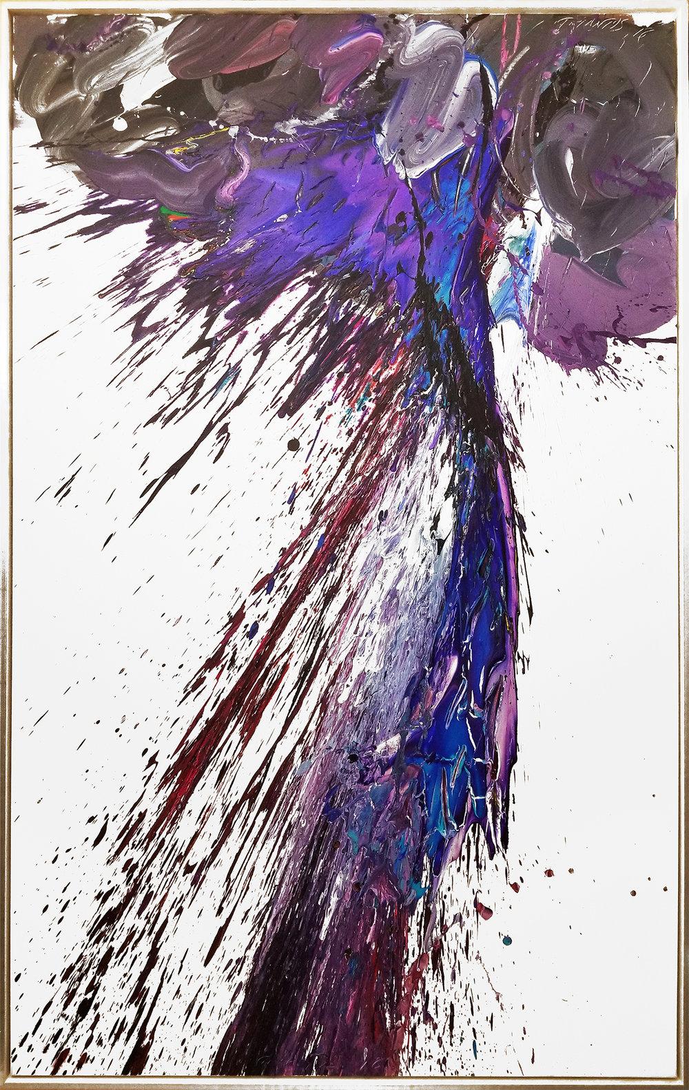 """Storm#8, 2018, acrylic on canvas, 60"""" x 96"""" (152.4 x 243.8 cm) on Hold"""