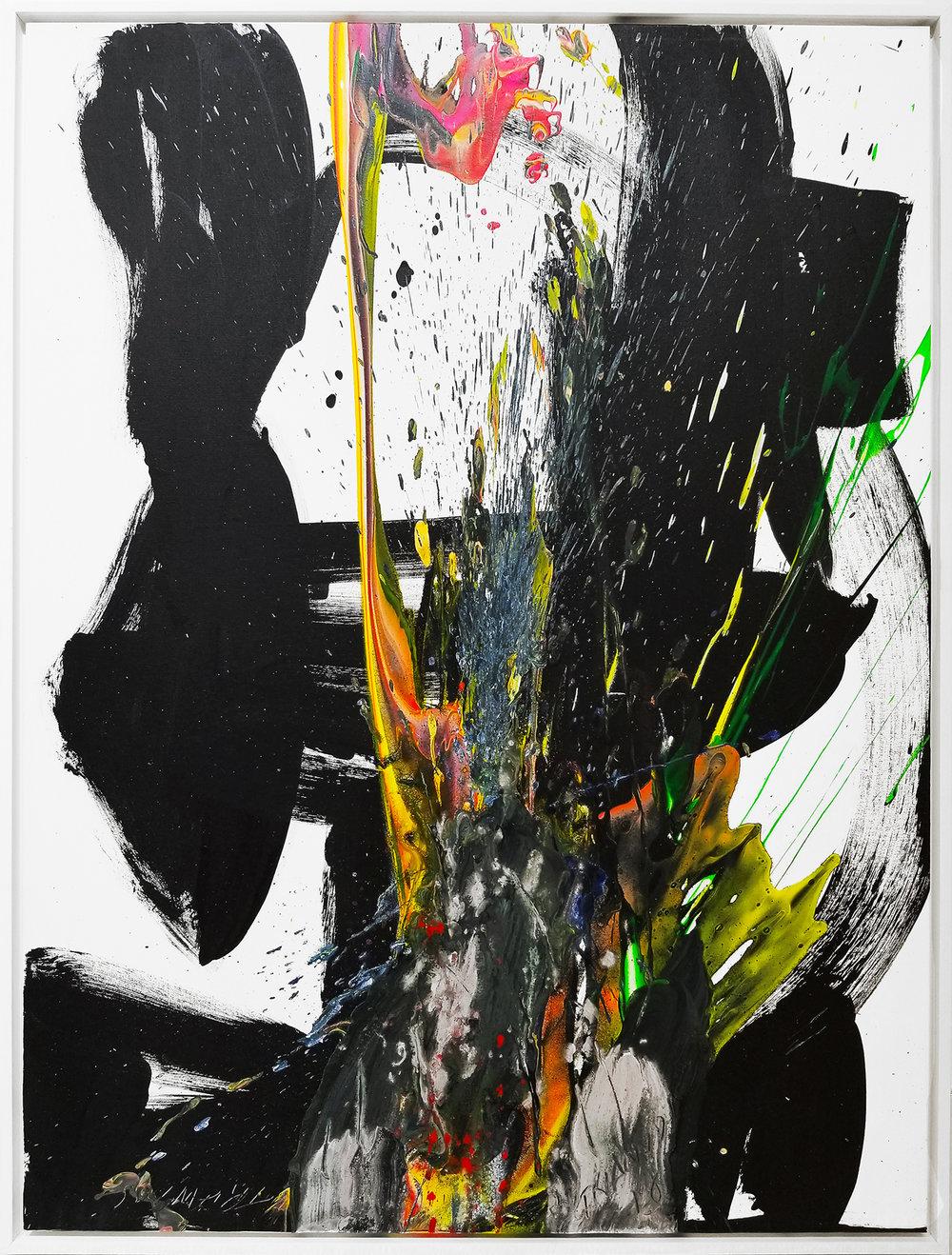 """SP2 #111, 2018, acrylic on canvas, 48""""x36"""" (121 x 91.4 cm)"""