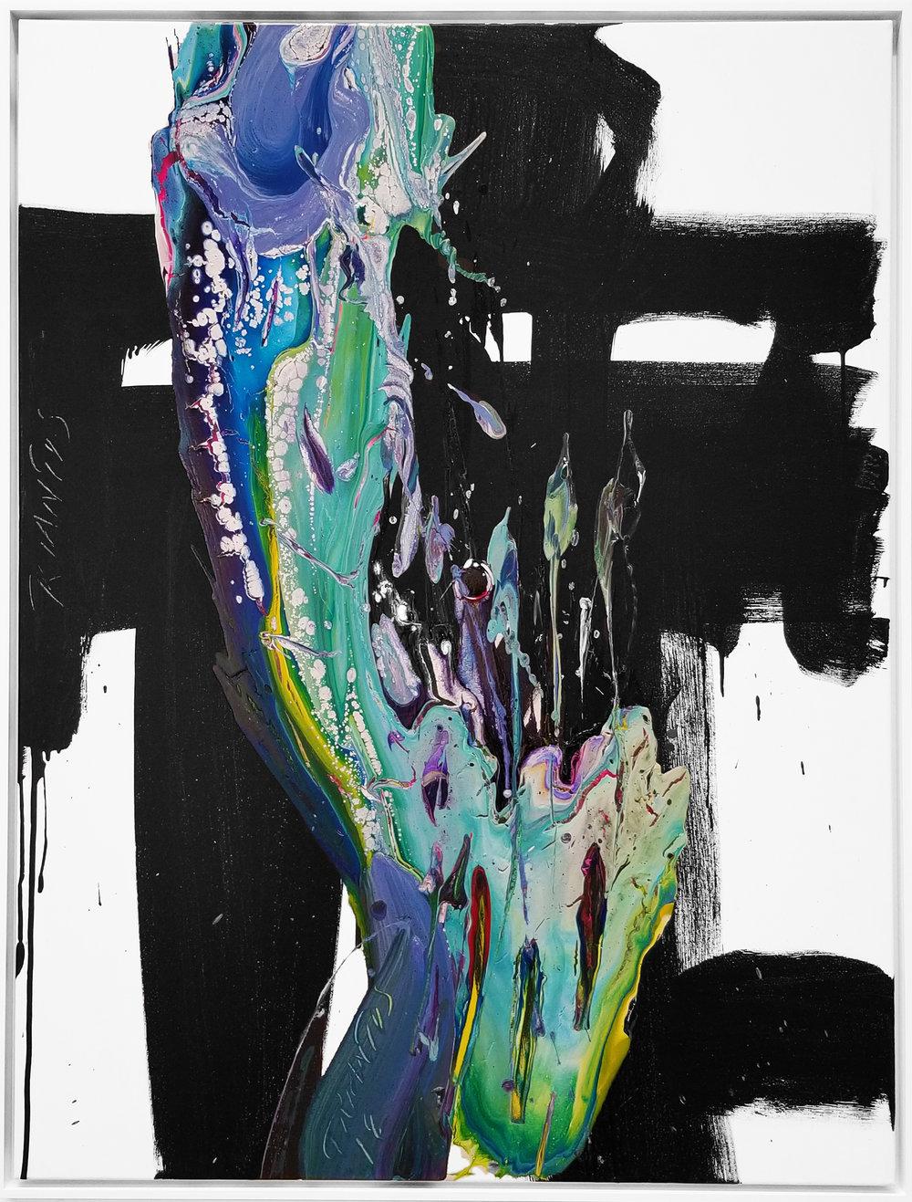 """SP²#128, 2018, acrylic on canvas, 48""""x36"""" (121.2 x 91.4 cm)"""