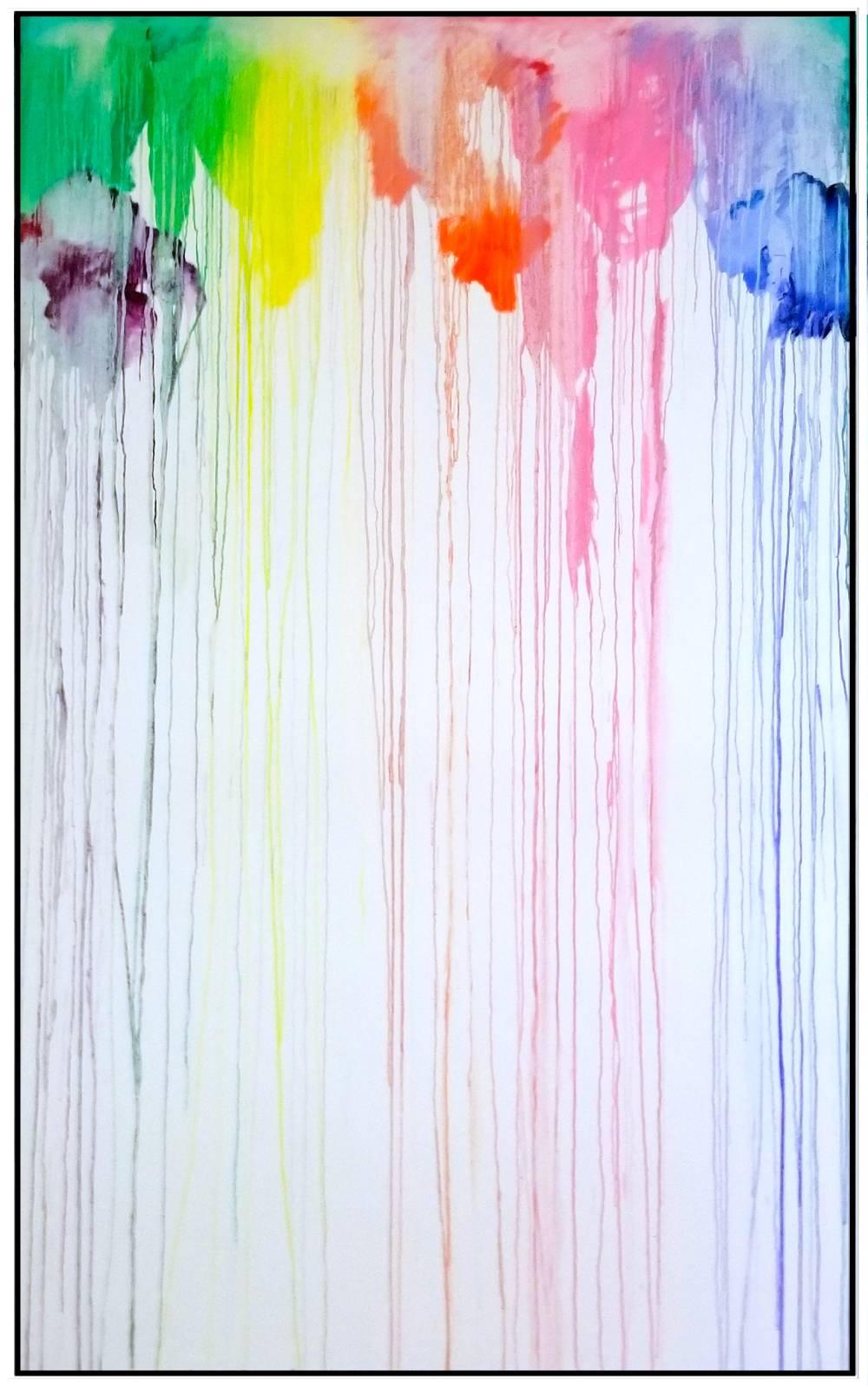 "Splash of Colour #14, 2019, acrylic on canvas, 60"" x 96"" (152.4 x 244 cm)"