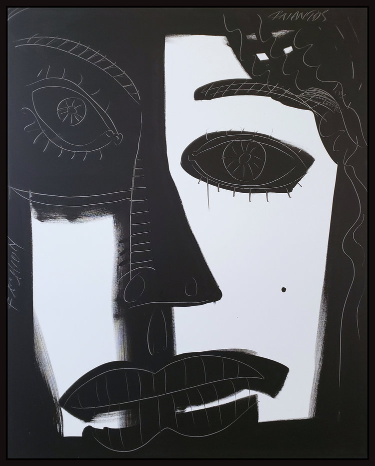 """Black and White #66, 2019, acrylic on canvas, 60"""" x 48"""" (152.4 x 122 cm)"""