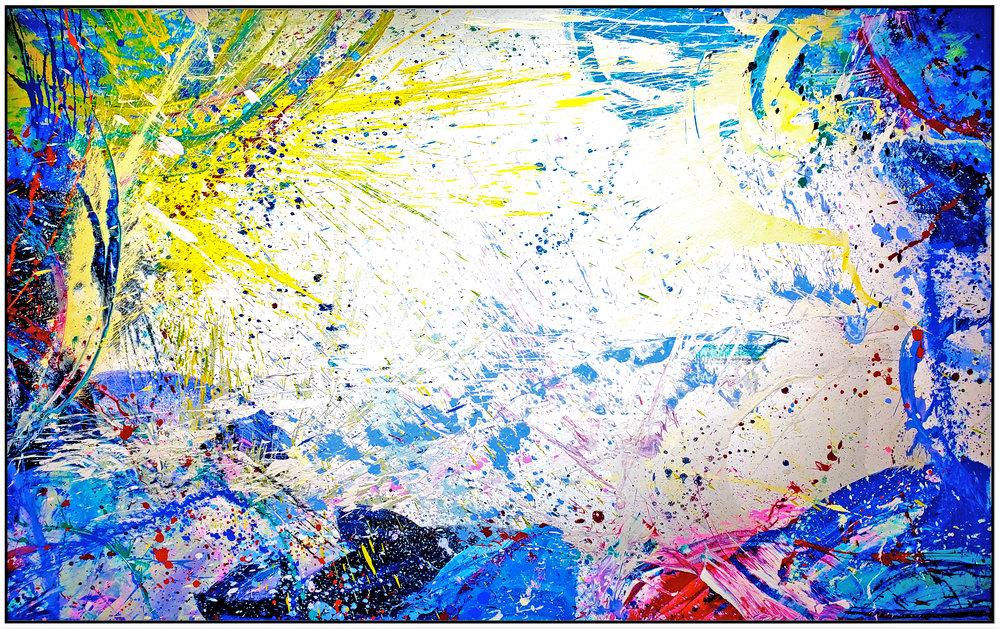 "Napa Valley #75, 2019, acrylic on canvas, 60"" x 96"" (152.4 x 244 cm)"