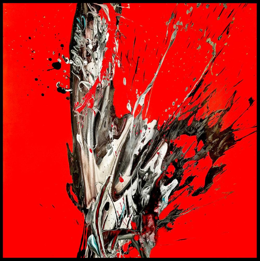 "Splash of Colour² #86, 2018, acrylic on canvas, 48"" x 48"" (122 x 122 cm)"