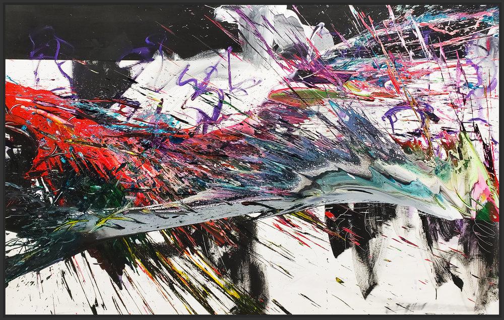 """SP2 #142, 2019, acrylic on canvas, 48"""" x 84"""" (122 x 213.4 cm)"""