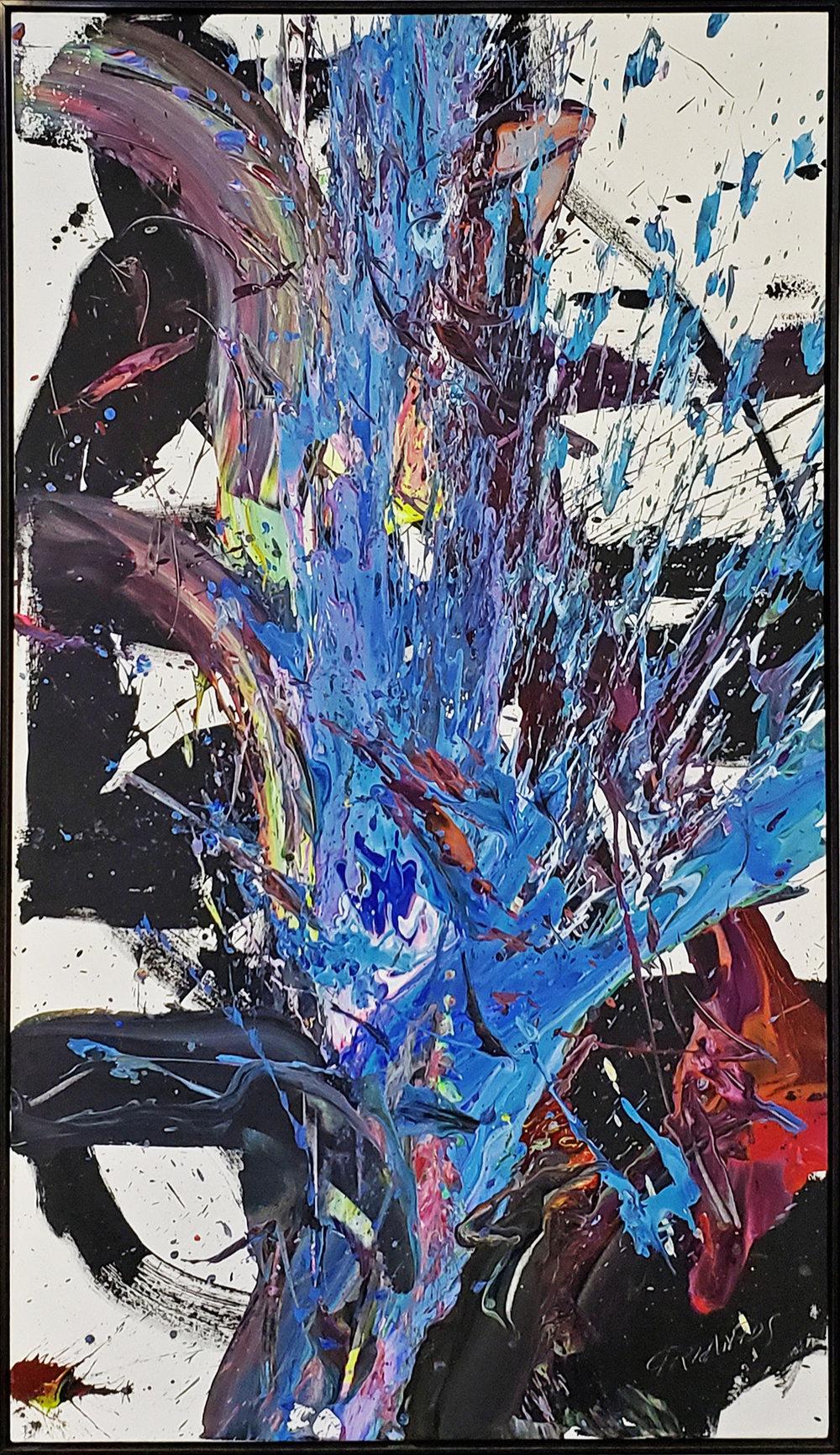"""SP2 #140, 2019, acrylic on canvas, 84"""" x 48"""" (213.4 x 122 cm)"""