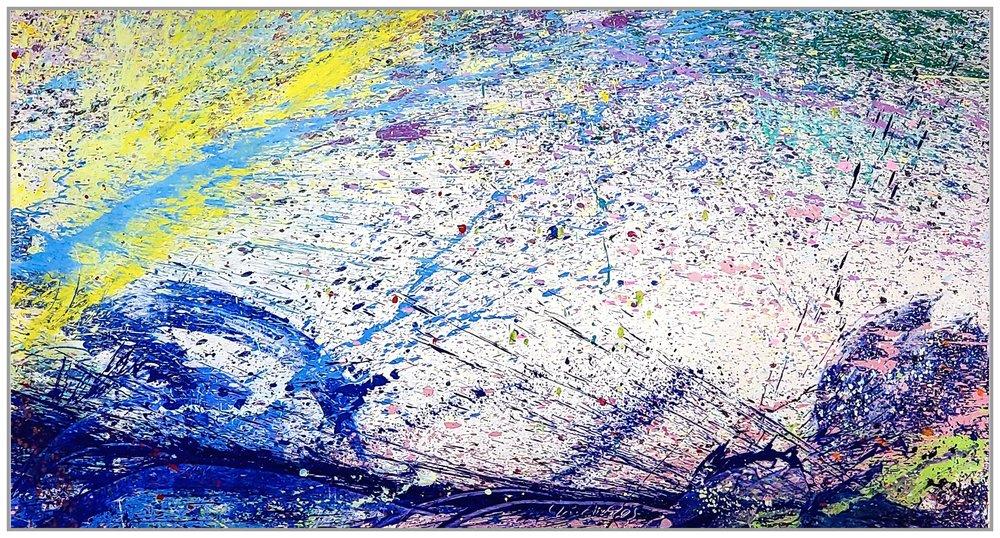 "Napa Valley #88, 2019, acrylic on canvas, 60"" x 108"" (152.4 x 274 cm)"