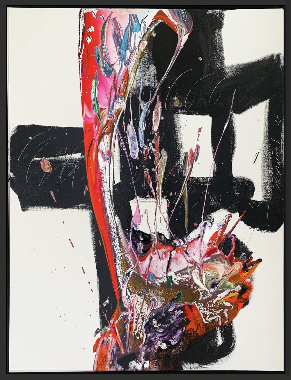 "Splash of Colour² #90, 2018, acrylic on canvas, 48"" x 36"" (122 x 91.4 cm)"