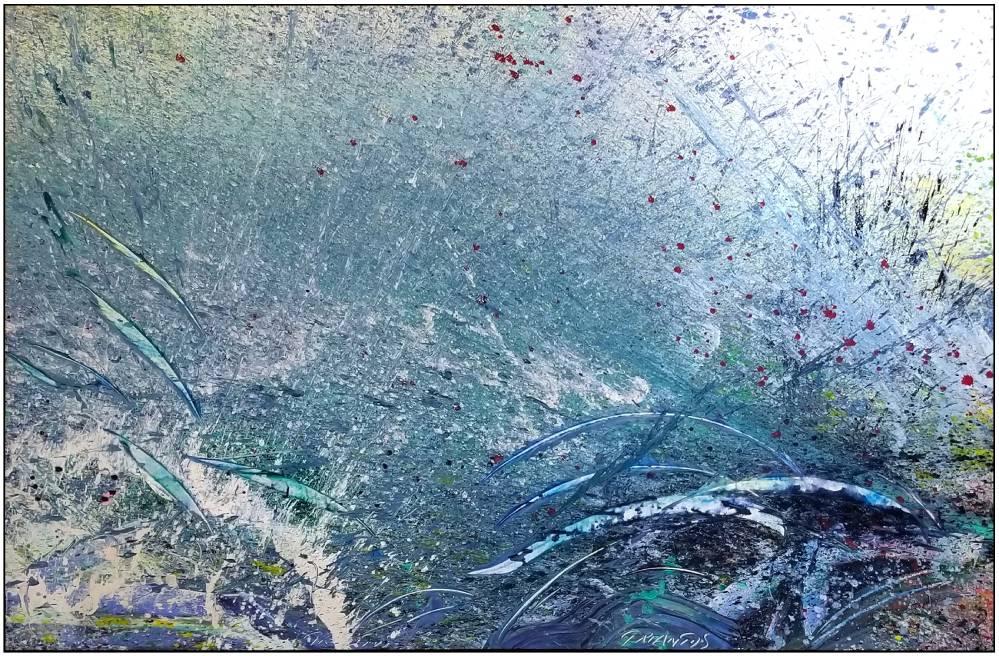 "Napa Valley #89, 2019, acrylic on canvas, 70"" x 106"" (78 x 269 cm)"