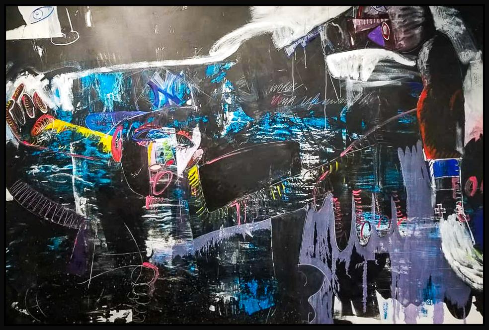 "Untitled #125, 2019, acrylic on canvas, 72"" x 108"" (183 x 274 cm)"