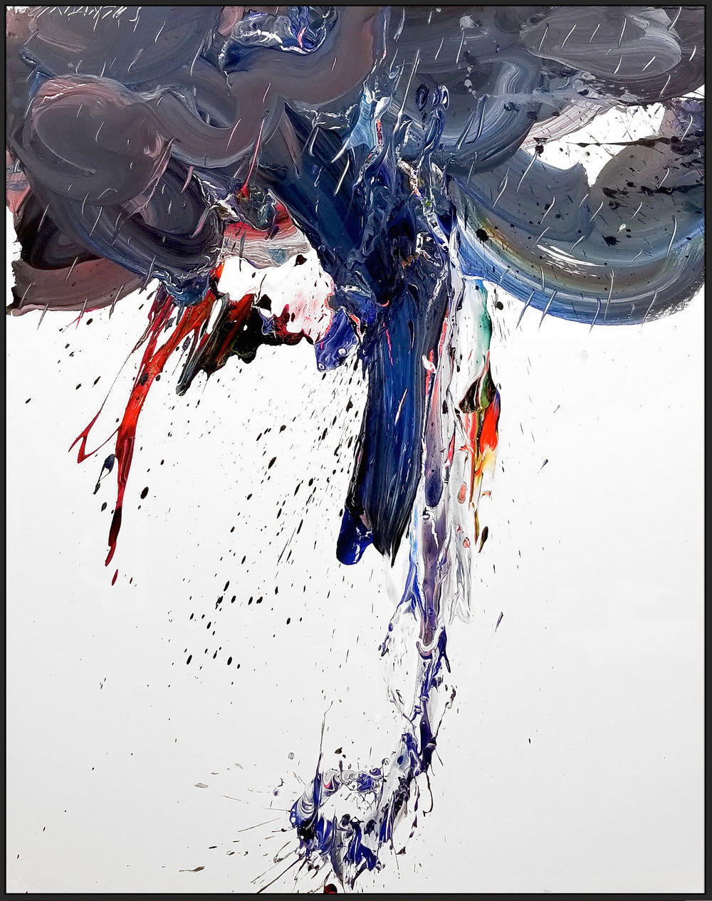 "Storm #7, 2018, acrylic on canvas, 60"" x 48"" (152.4 x 122 cm)"