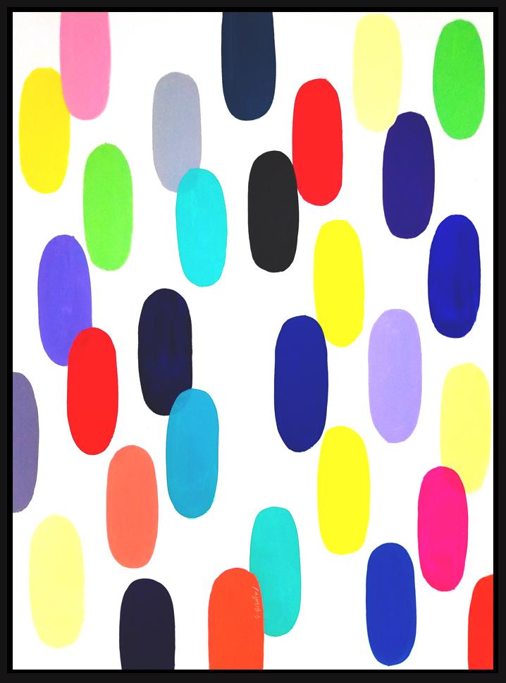 """Jelly Bean #56, 2019, 48"""" x 36"""", acrylic on canvas (122 x 91.4 cm)"""