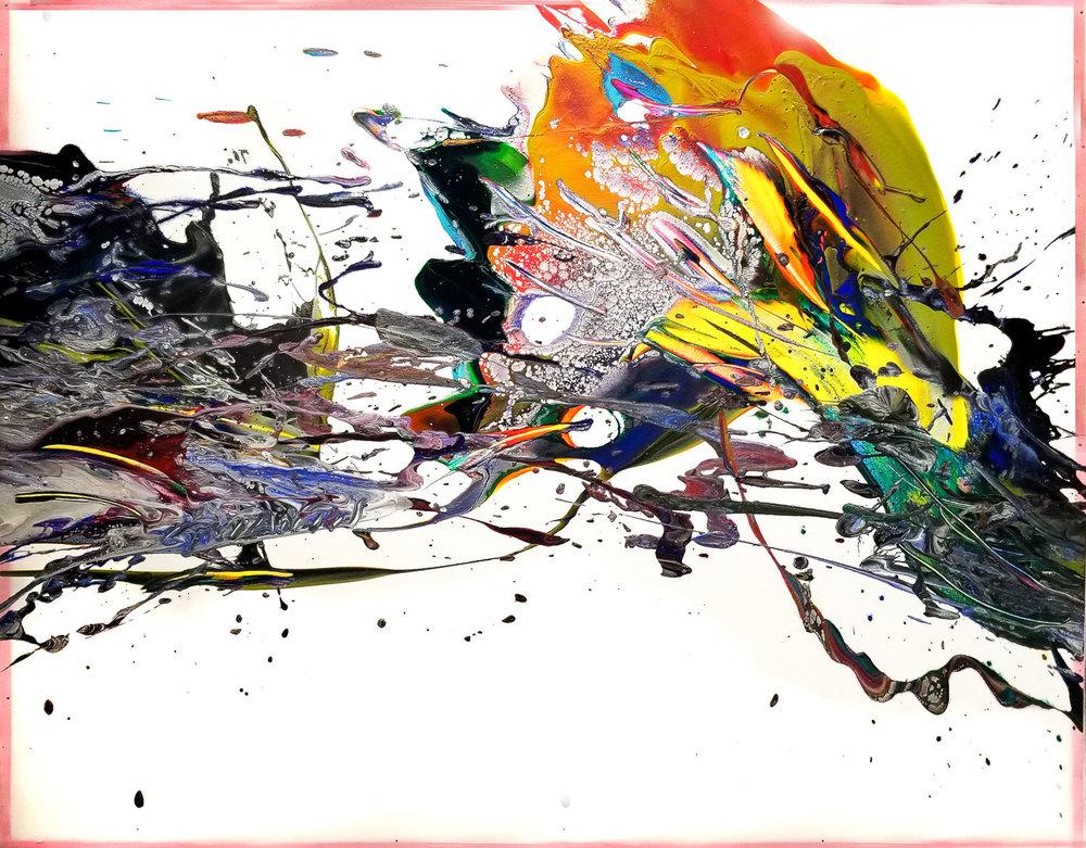 "Splash of Color 2#146, 2019, acrylic on canvas, 32"" x 40"" (81 x 101.6 cm)"