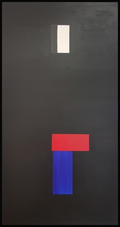 "Simply Formal #2, 2016, acrylic on canvas, 84"" x 44"" (213.4 x 112 cm)"