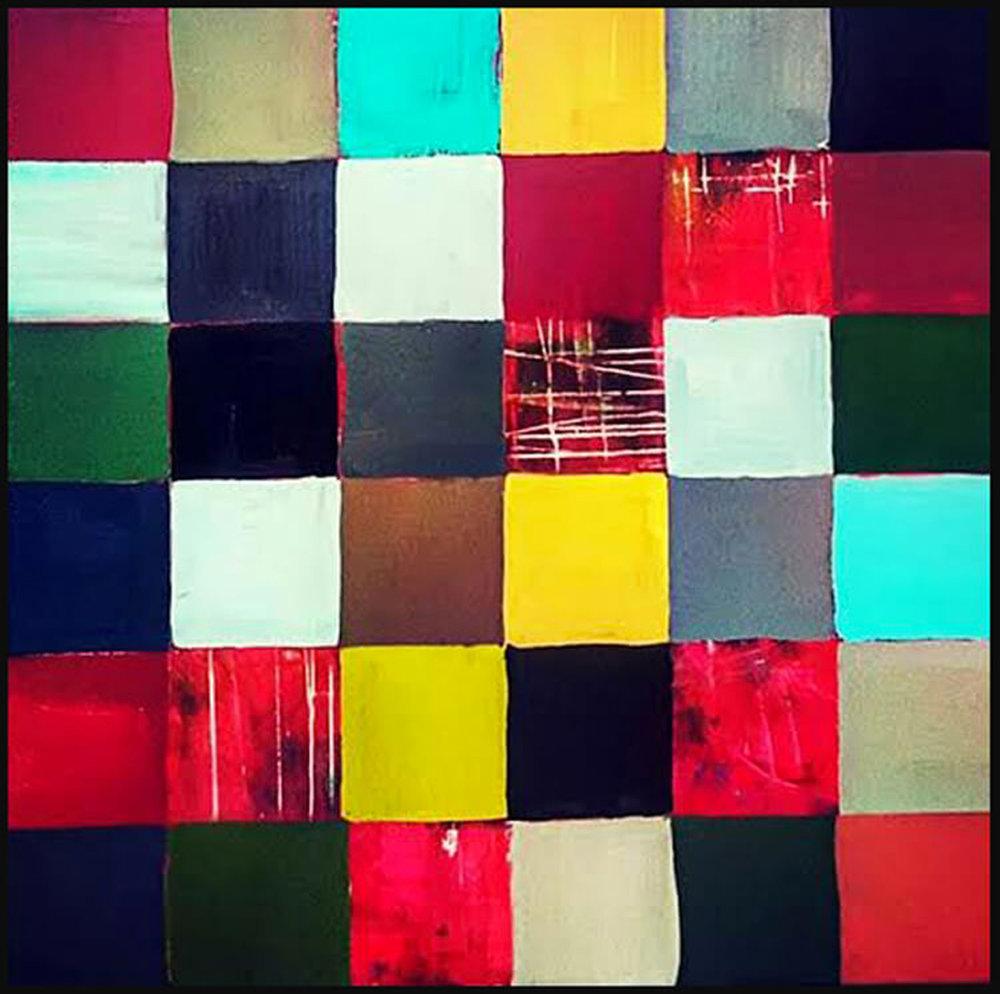"Simply Formal #5, 2015, acrylic on canvas, 48"" x 48"" (122 x 122 cm)"