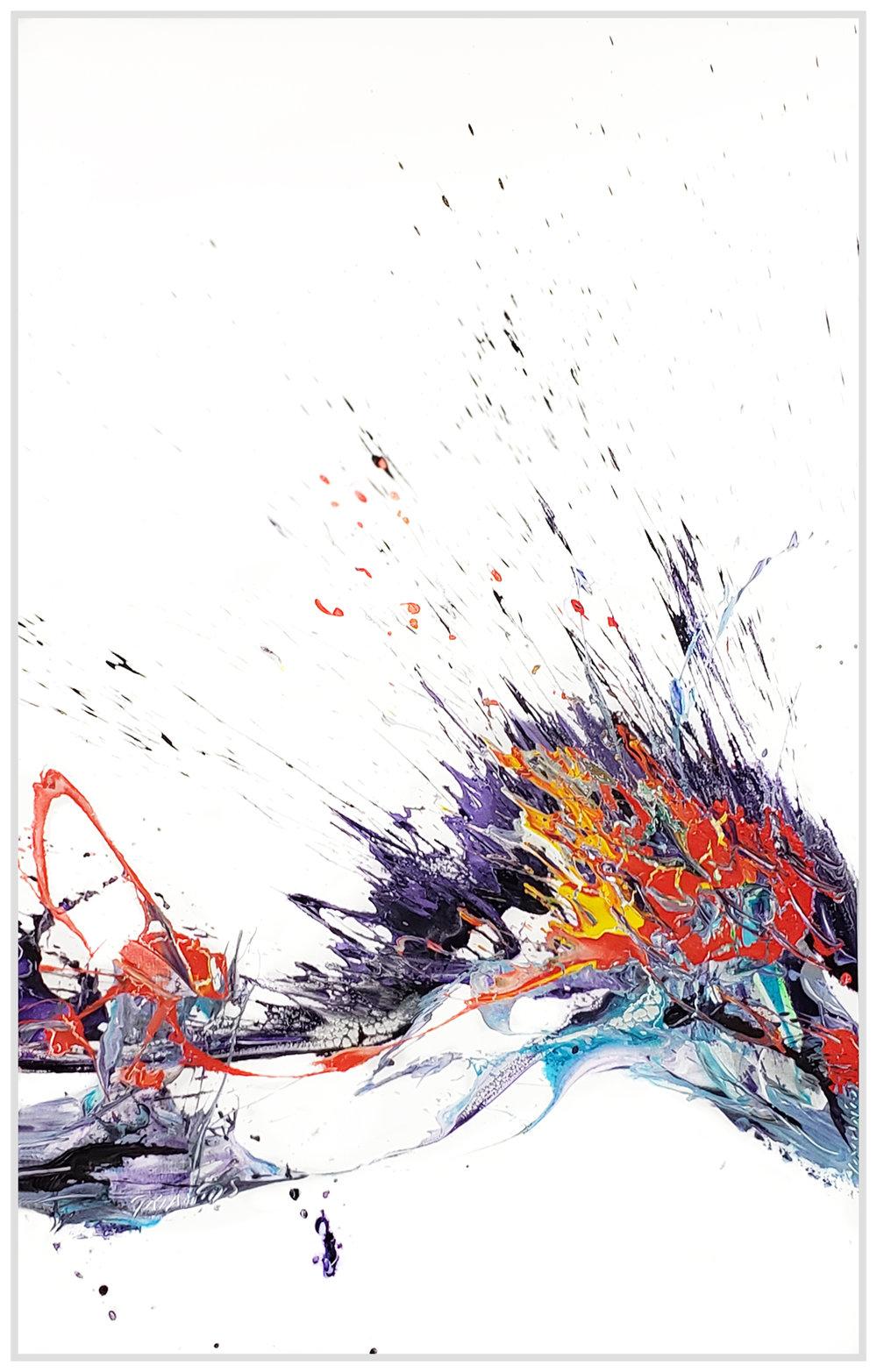 "Splash of Colour #148, 2019, acrylic on canvas, 60"" x 96"" (152.4 x 244cm)"