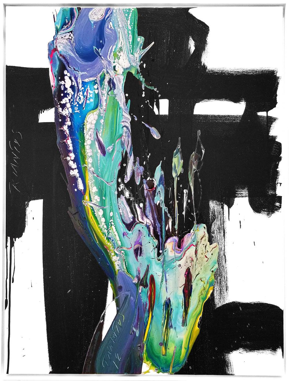 """SP²#128, 2018, acrylic on canvas, 48""""x36"""" (122 x 91.4 cm)"""