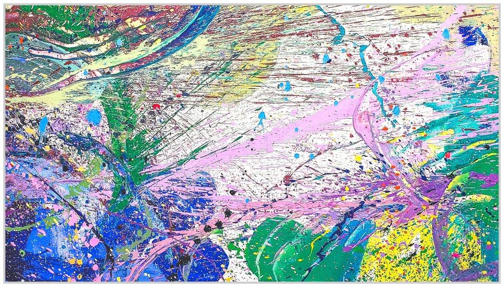 "Napa Valley #86, 2019, acrylic on canvas, 36"" x 68"" (91.4 x 173 cm)"