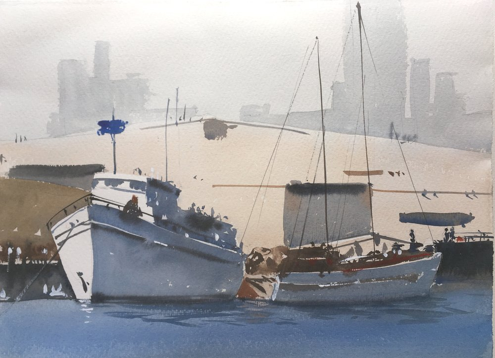 "quarter sheet saunders waterford, 11"" x 15"", plein air"