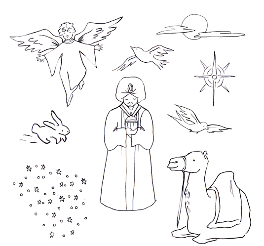 Nativity characters coloring activities coloring pages for Coloring pages of nativity characters
