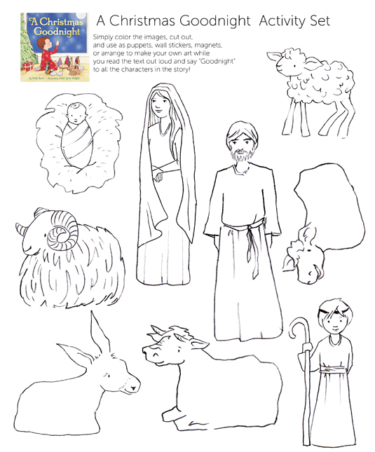 coloring pages of nativity characters