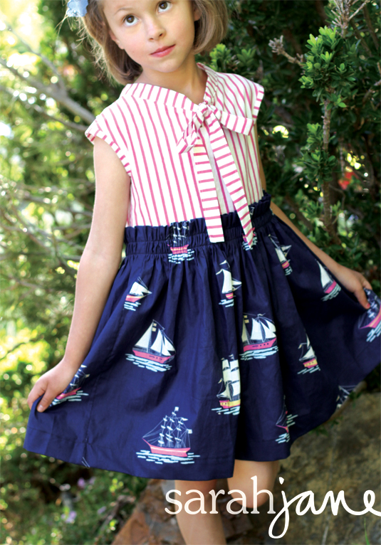 out to sea navy dress web