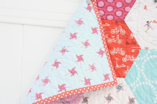 Sarah Jane pinwheels quilt back