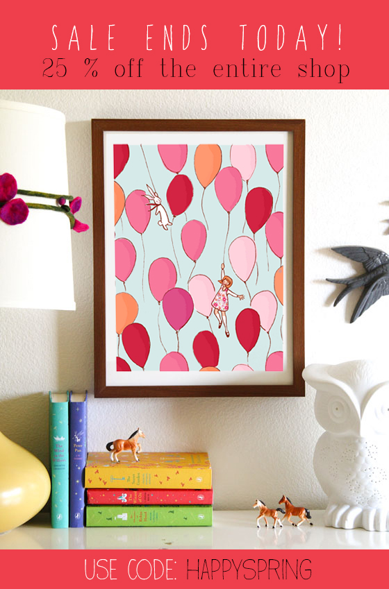 SPRING SALE balloons print