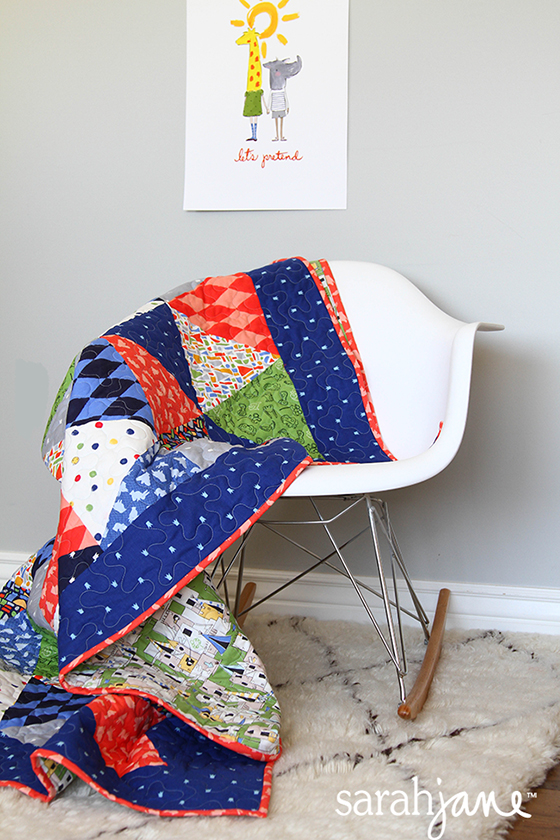 triangle quilt blog