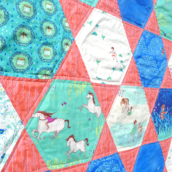 hexagon quilt crop
