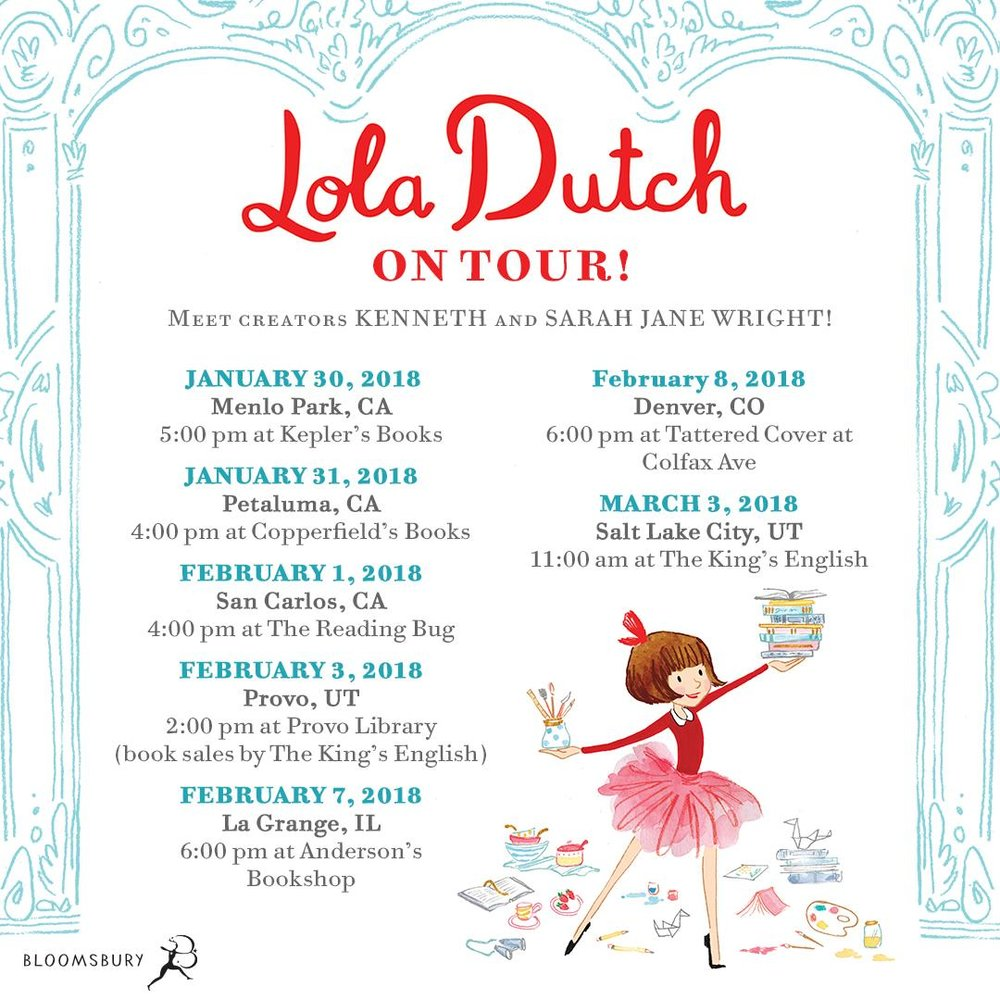 Lola Dutch Book Tour