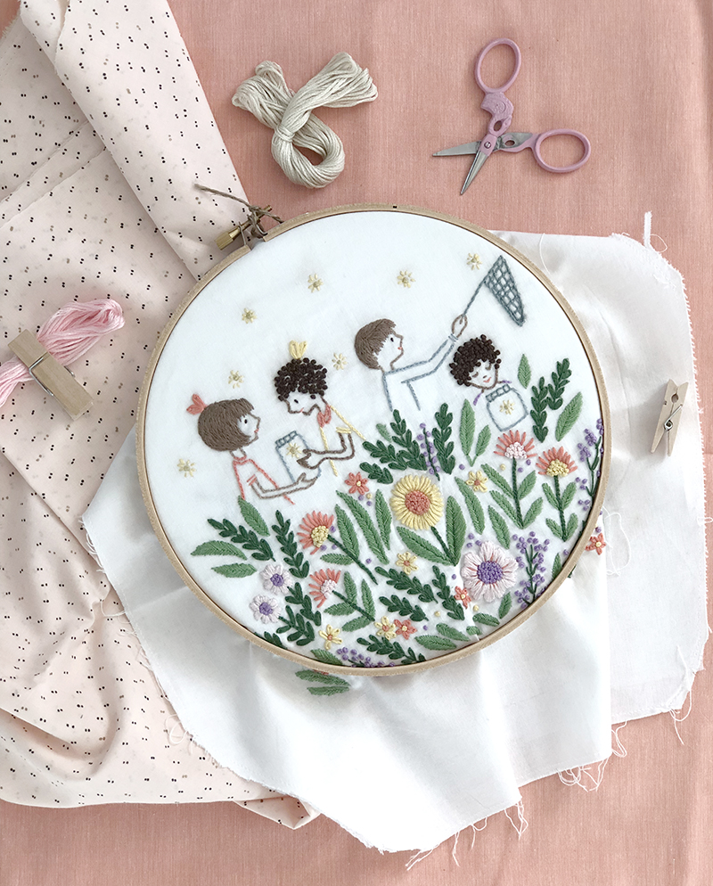 Firefly Garden PDF Embroidery Pattern by Sarah Jane