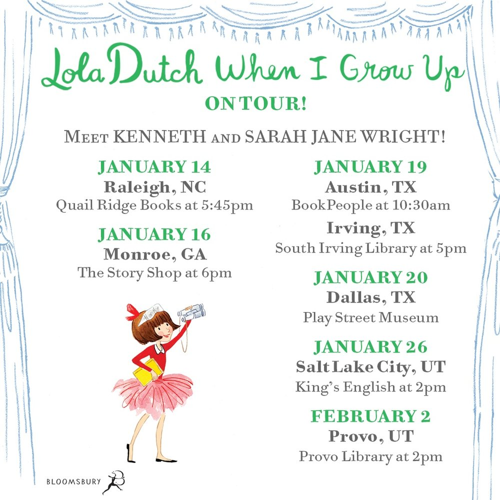 Lola Dutch Book Tour!
