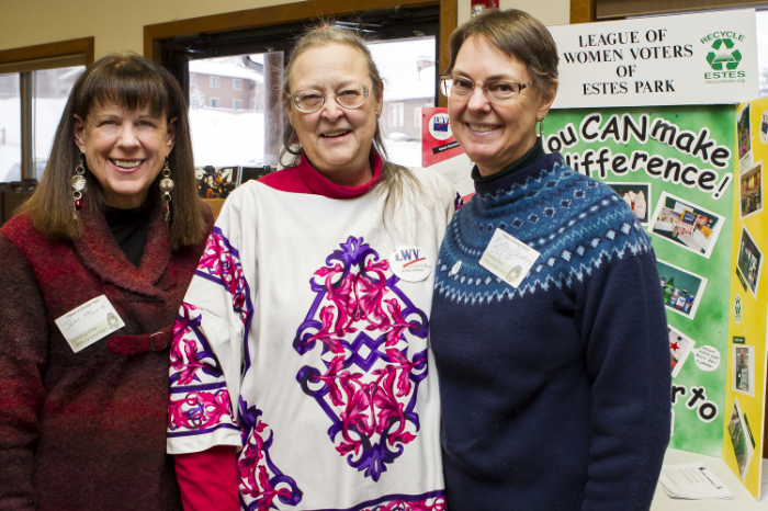 Community Recycling Committee volunteers at a recent educational event.  (A. Schonlau courtesy photo)