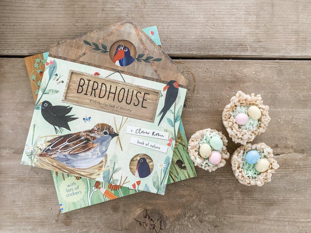 rice krispie birds nest