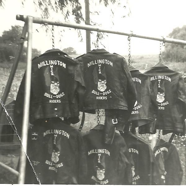 Vintage MX jackets from the original Bulldogs MC (Bulldogs Riders) . #vintage #moto #motocross #mx #sand #racing #motorsport #bsa #harley #triumph #motorcycle #club