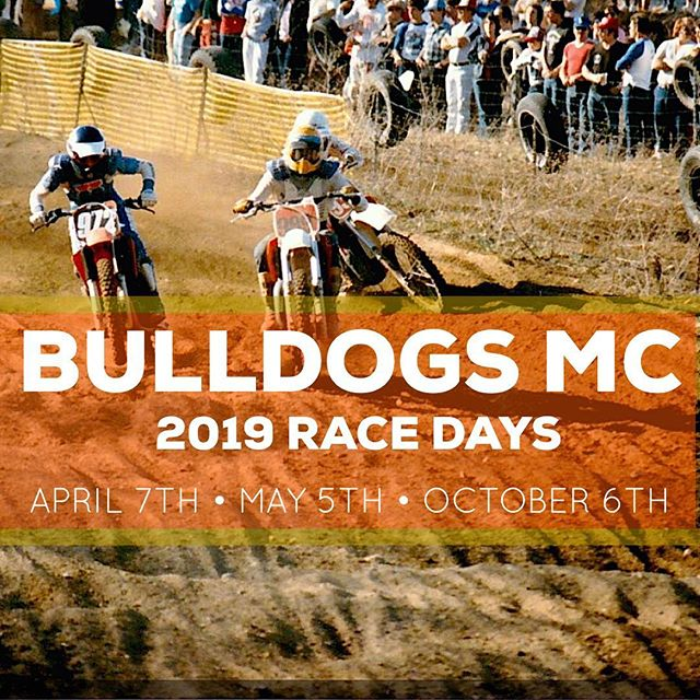 Mark your calendars! Bulldogs MC is proud to be hosting three D-14 races in 2019. Mount those MX12's and watch some Herlings videos....