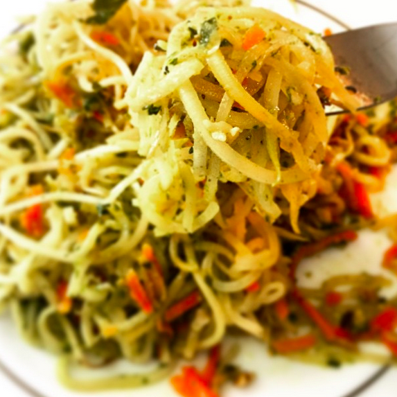 I took this pic and then I ate the food. Mmm....zucchini pesto.