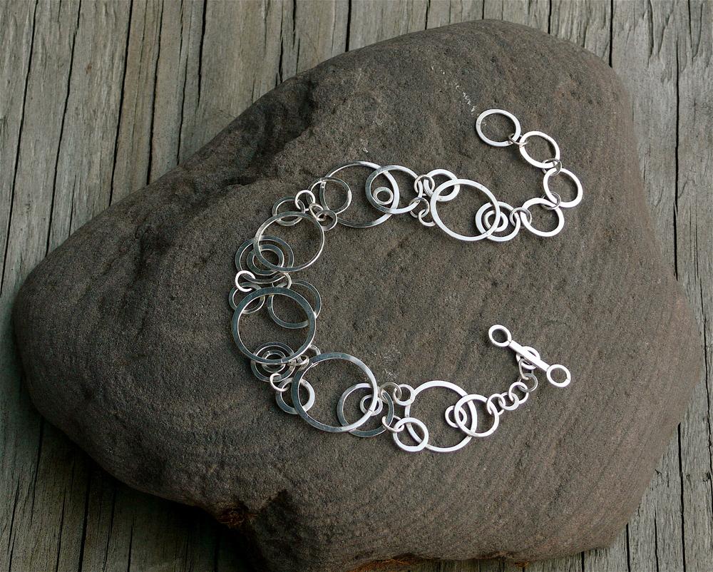 Saturn\'s Moons Bracelet in Sterling Silver — Erin Hewgley Jewelry