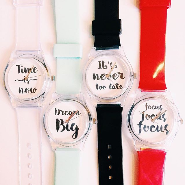 Motivational watches! Shop link in bio #dreambig #focus #timeisnow #itsnevertoolate #may28thwatch #motivated