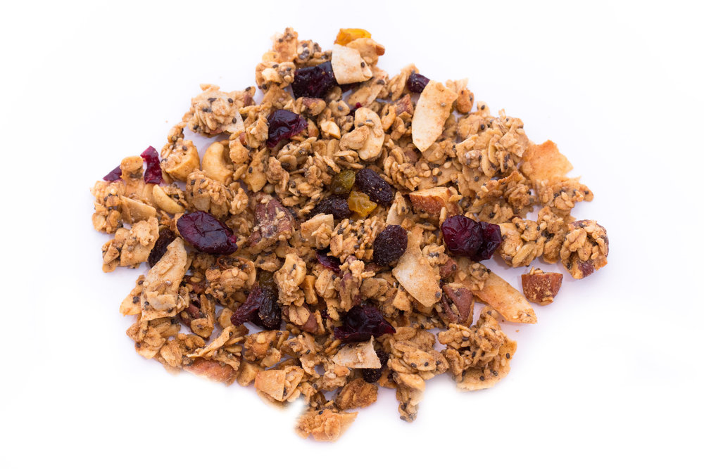 Peanut Butter lovers, you won't be able to put this one down. This granola is sweet, salty, and wholesome for a great source of healthy natural energy. Makes a great snack or dessert.